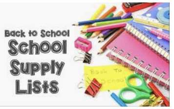 JES Back to School Supply List for 2019