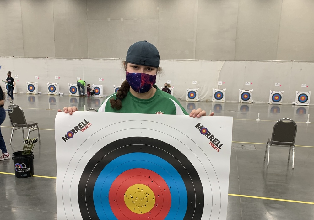 Kimber Collins places Top 10 in the State in Archery