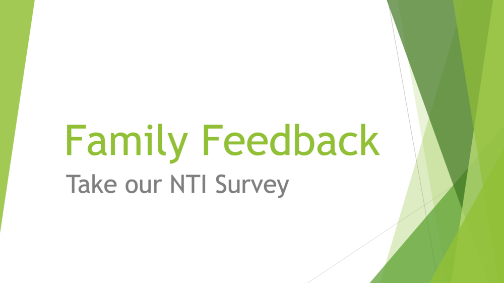 NTI Parent Reflection Survey