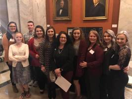 Jenkins Students With Representative Angie Hatton
